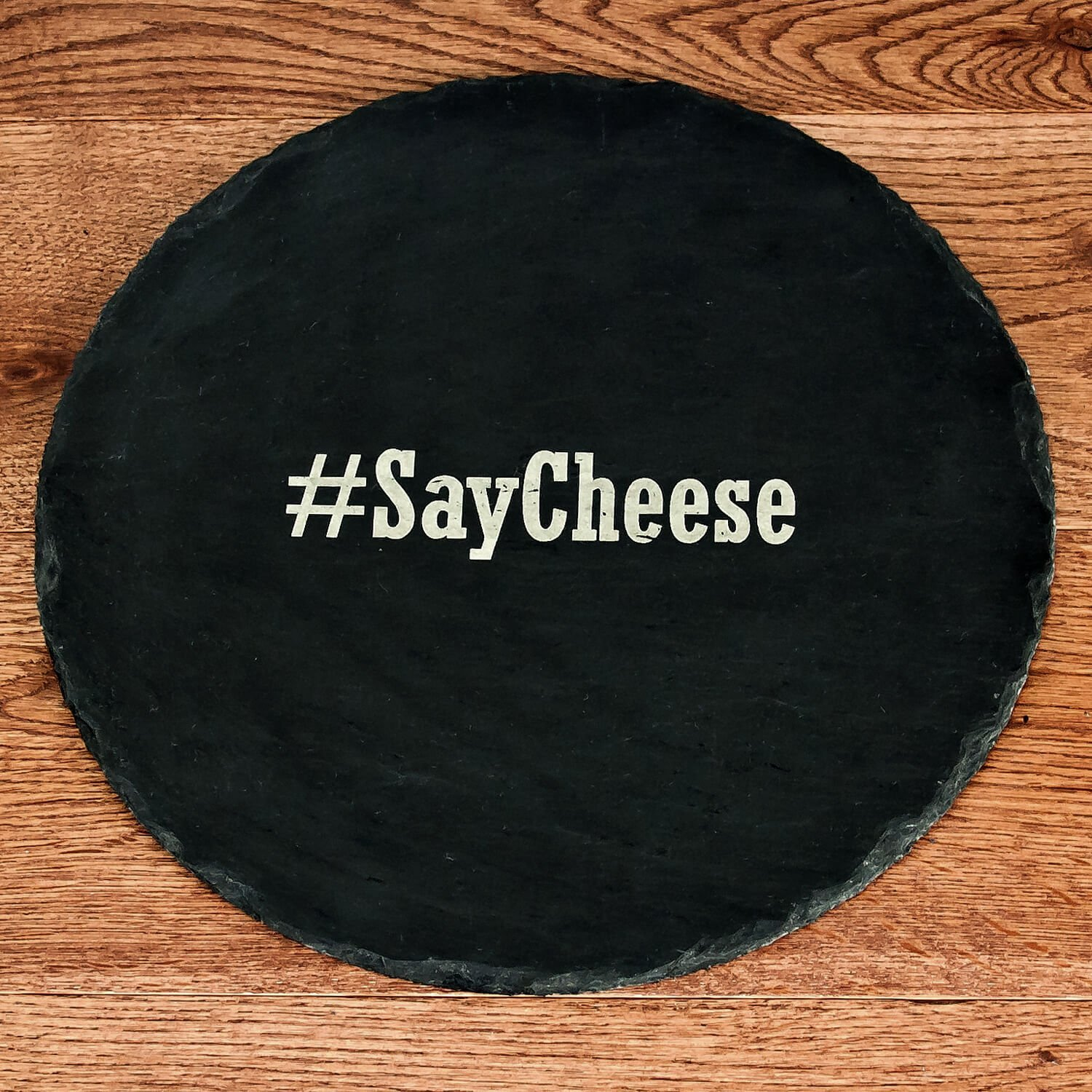 Personalised Slate Cheese Board – Your Message (Hashtag)