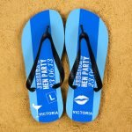 Personalised Adults Flip Flops (Light Blue) – Hen Party