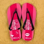 Personalised Adults Flip Flops (Pink) – Hen Party