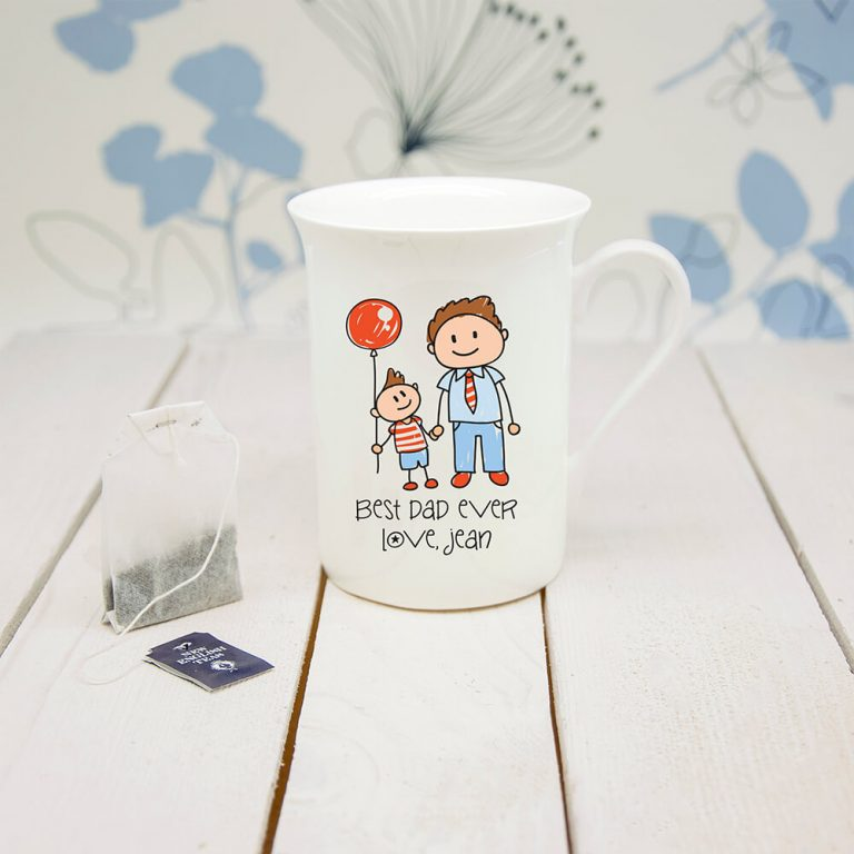 Personalised I Love My Dad Personalised Kid's Artwork Bone China Mug