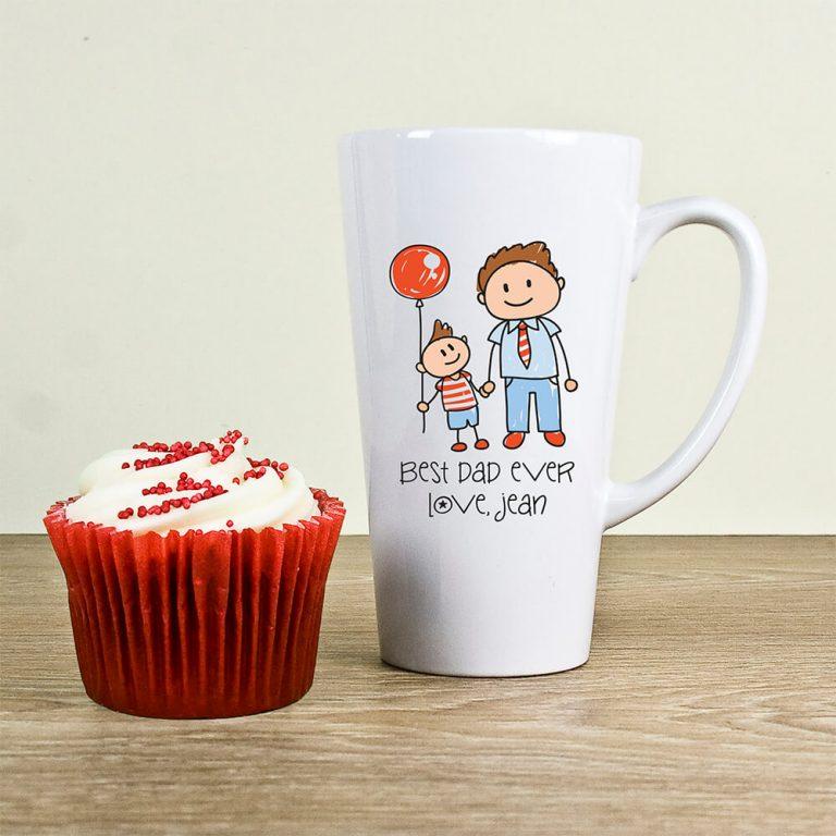 Personalised I Love My Dad Personalised Kid's Artwork Latte Mug