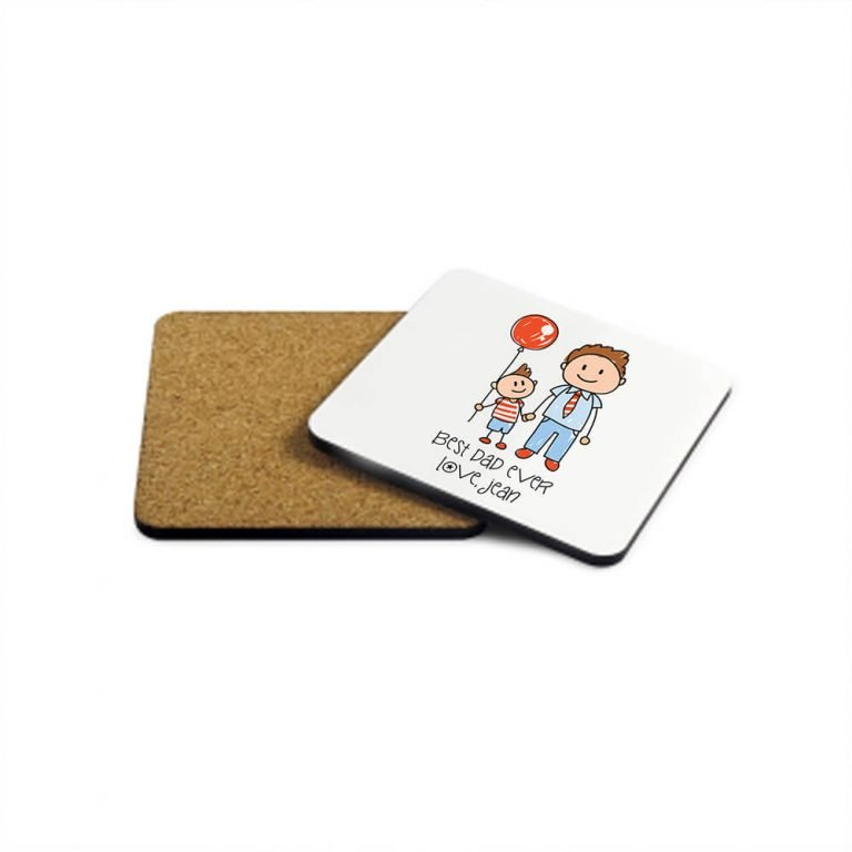 Personalised Wooden Coaster – I Love My Dad