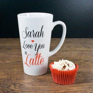 Personalised I Love You A Latte Latte Mug