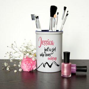 Personalised Make Up Brush Holder – Just a Girl who Loves Make Up
