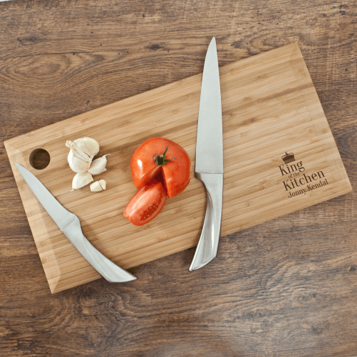 Personalised Bamboo Chopping Board – King of the Kitchen