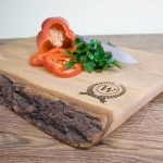 Personalised Rustic Welsh Ash Chopping Board – Initial (Olympic)