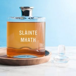 Personalised Platinum Necked Decanter – Your Message
