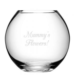 Personalised Round Vase – Your Message
