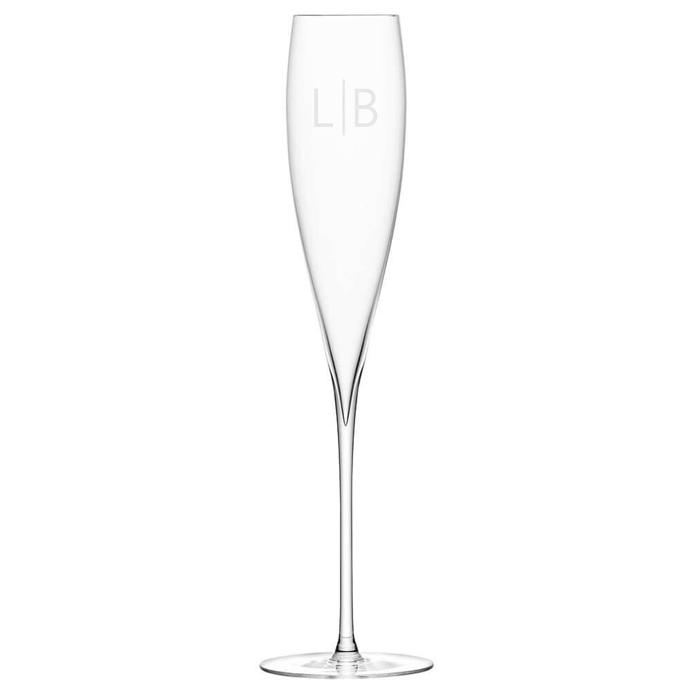 Personalised Savoy Champagne Flutes – Set of 2 – Initials