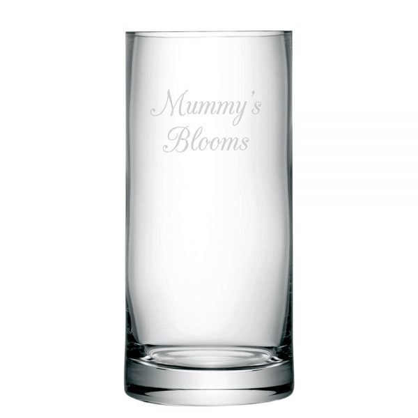 Personalised Column Vase – Your Message