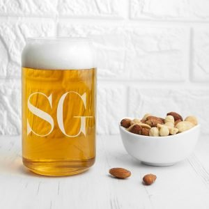 Personalised Glass Can – Initials