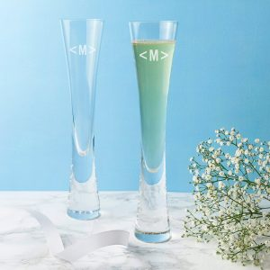 Personalised LSA Champagne Flutes – Set of 2 – Initials