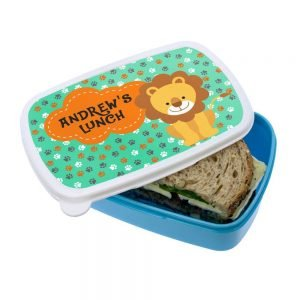 Personalised Lunch Box – Happy Lion