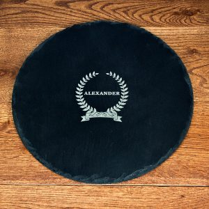 Personalised Slate Cheese Board – Name (Circle)
