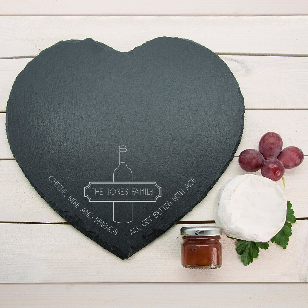 Personalised Slate Cheese Board – Family