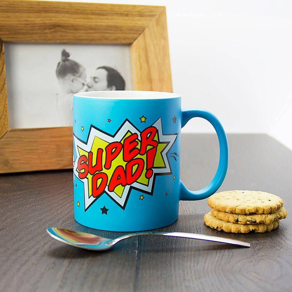 Personalised Superdad! Matte Coloured Mug