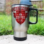 Personalised Coffee With a Touch of Vodka Travel Mug