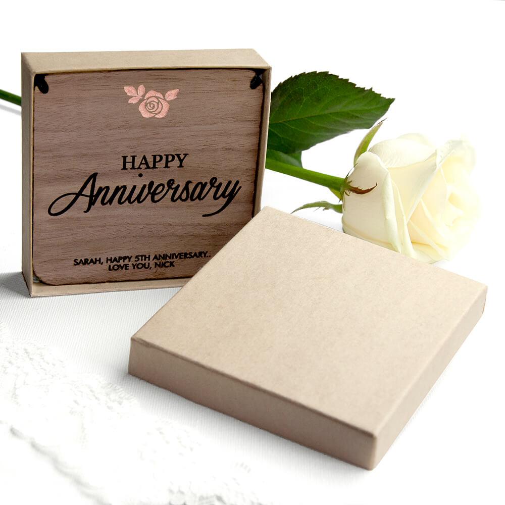 Personalised Necklace & Keepsake – Happy Anniversary