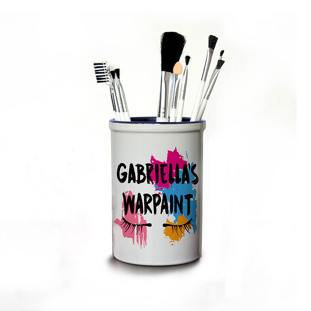 Personalised Make Up Brush Holder – My Warpaint