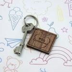 Personalised Wooden Key Ring – Teacher