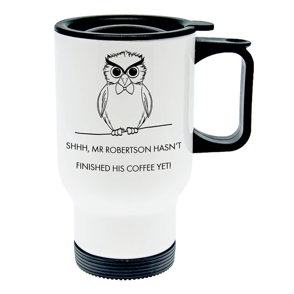 Personalised Teacher's Shhhh Travel Mug