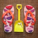 Personalised Kids Flip Flops – Watermelon