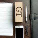 Personalised Welsh Ash Phone Stand