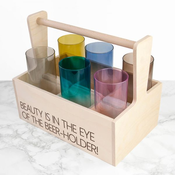 Personalised Cocktail Glasses & Holder – Your Message