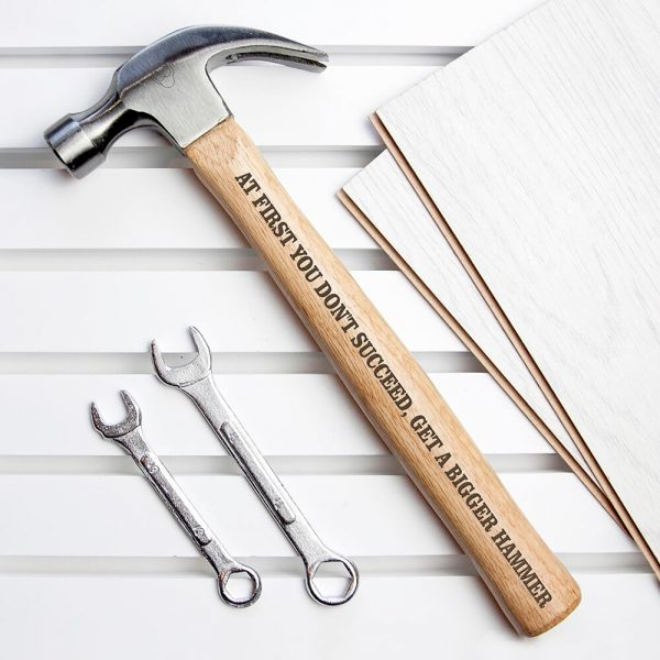 Personalised Wooden Hammer – Your Message