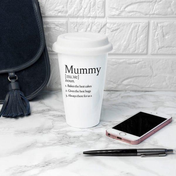 Personalised Definition Ceramic Travel Mug
