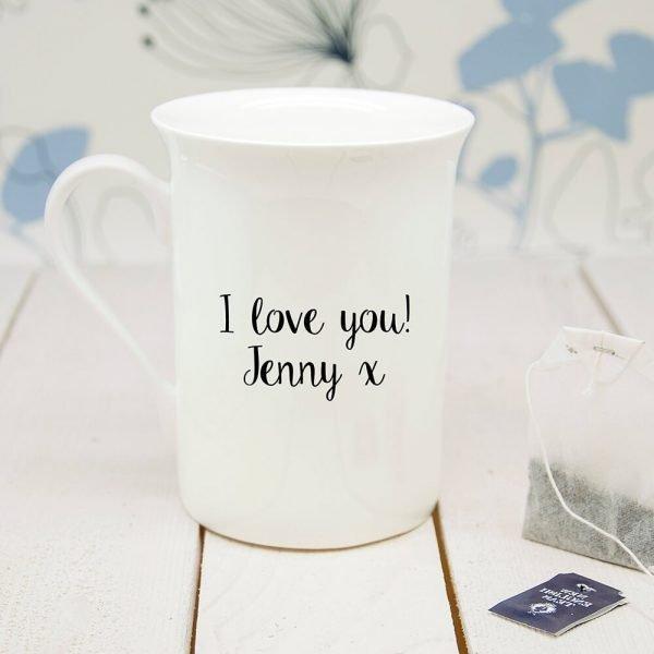 Personalised Oat-Standing Bone China Mug
