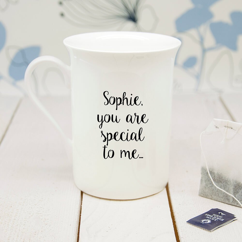 Personalised You're The Apple Of My Eye Bone China Mug