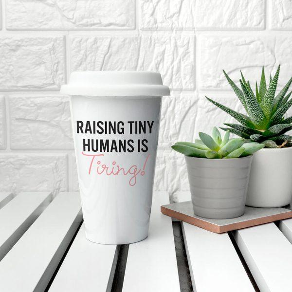 Personalised Tiny Humans Ceramic Travel Mug