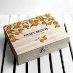 Personalised Recipe Box – Orange Grove