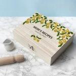 Personalised Recipe Box – Lemon Grove