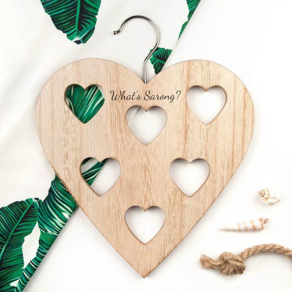 Personalised Hanger – Heart Scarf Holder