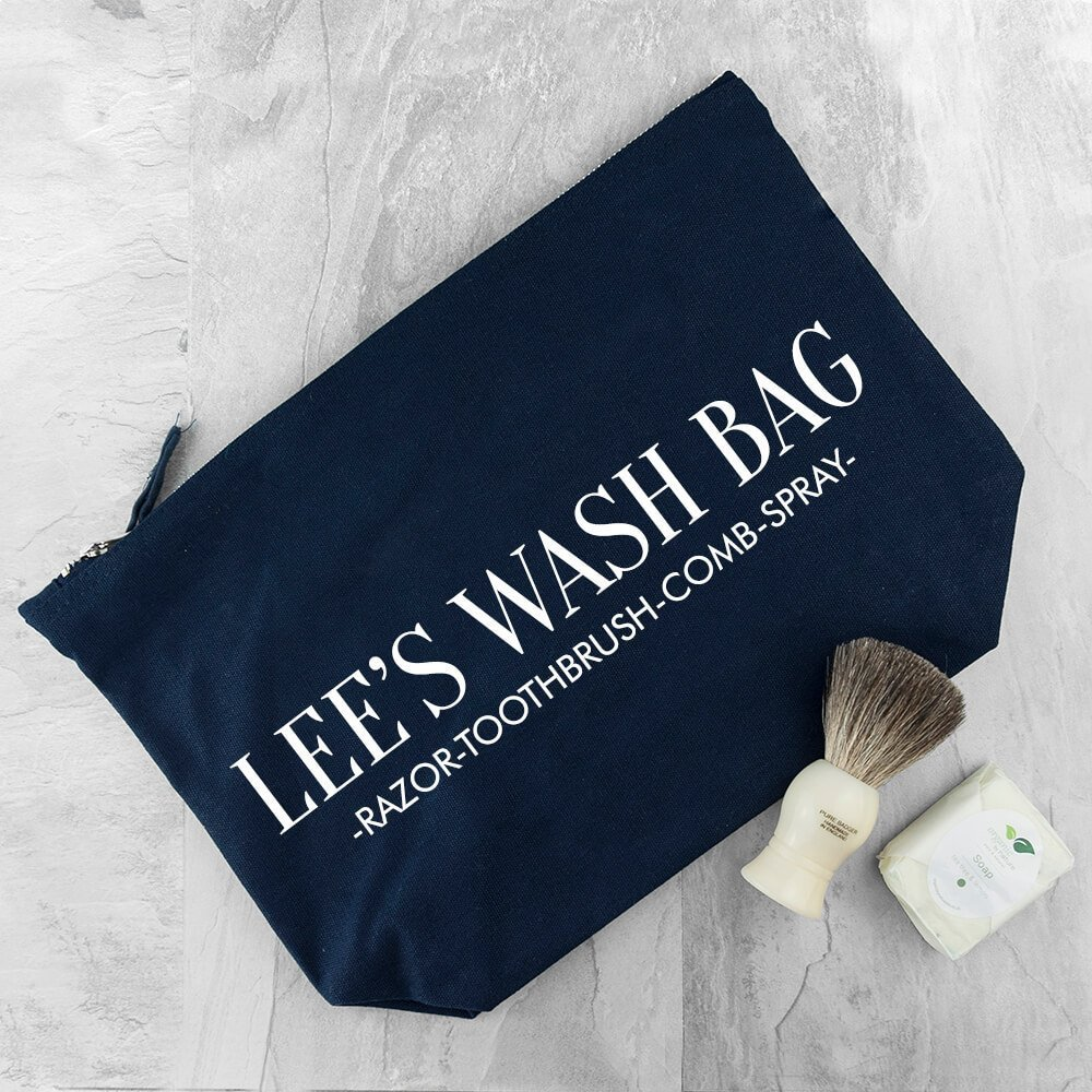 Personalised Wash Bag – Your Message