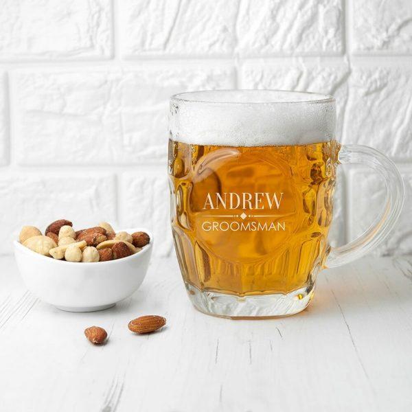 Personalised Wedding Beer Glass (Tankard) – Wedding Role