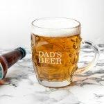 Personalised Beer Glass (Dimple) – Name