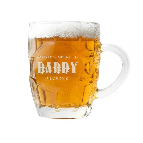 Personalised Beer Glass (Dimple) – Father's Day