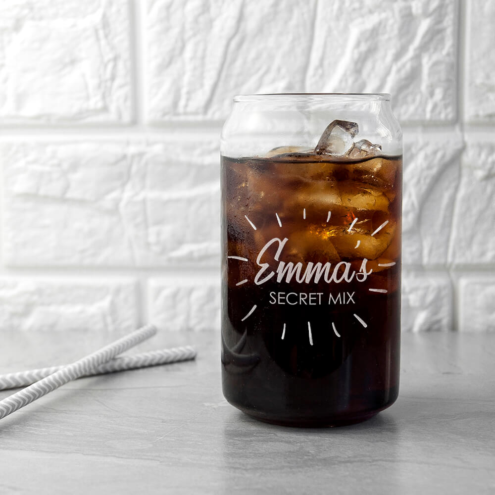 Personalised Glass Can – Magic Mix