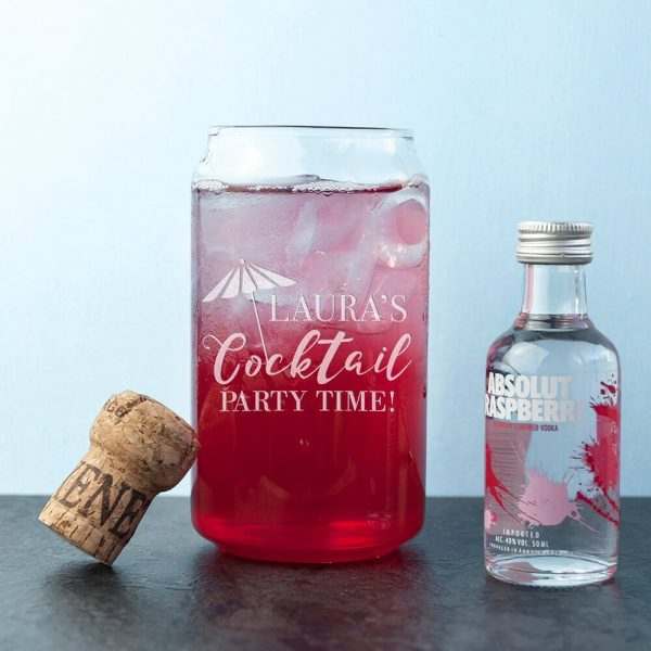 Personalised Glass Can – Cocktail
