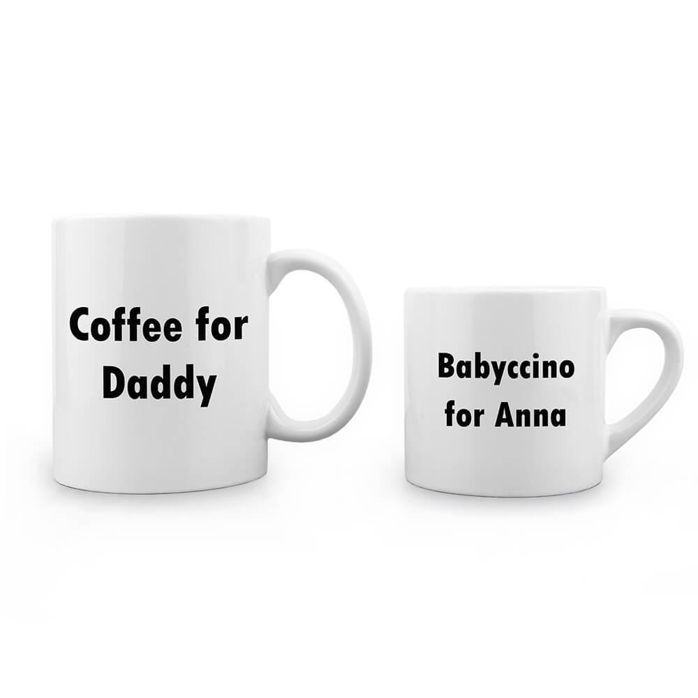 Personalised Daddy & Me Tea Time Mugs