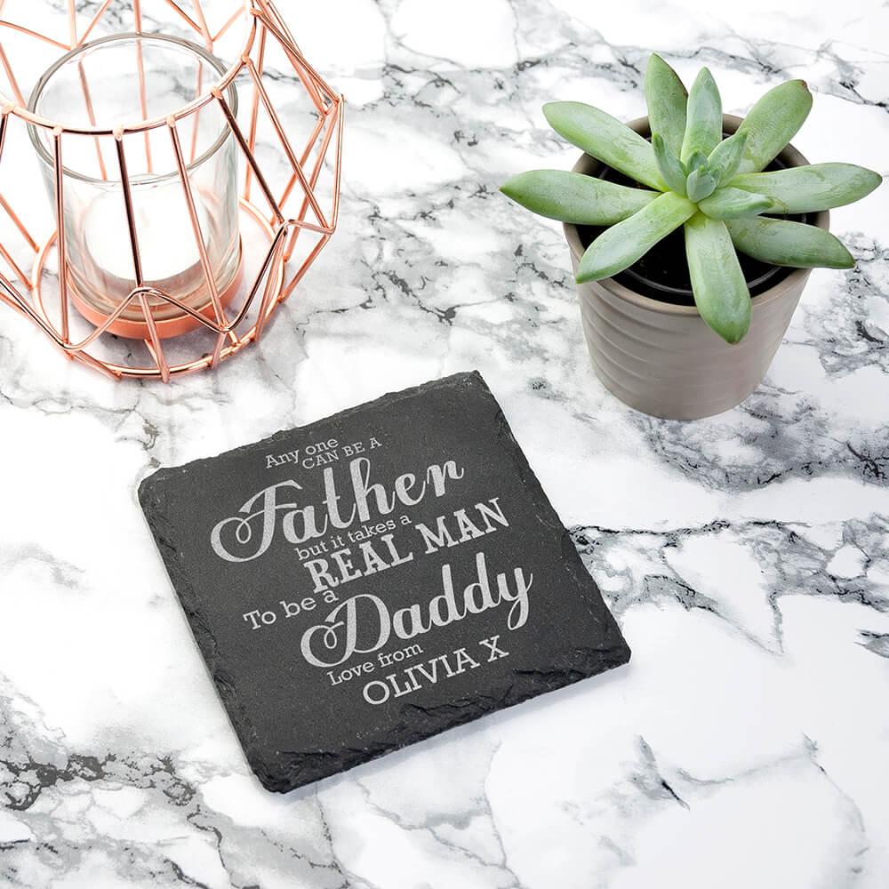 Personalised Slate Coaster – Take a Real Man