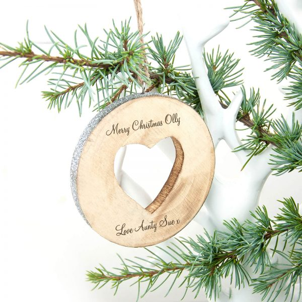 Personalised Sparkle Heart Christmas Decoration