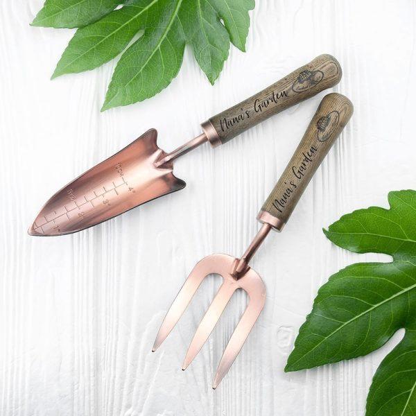 Personalised Deluxe Trowel & Fork Set