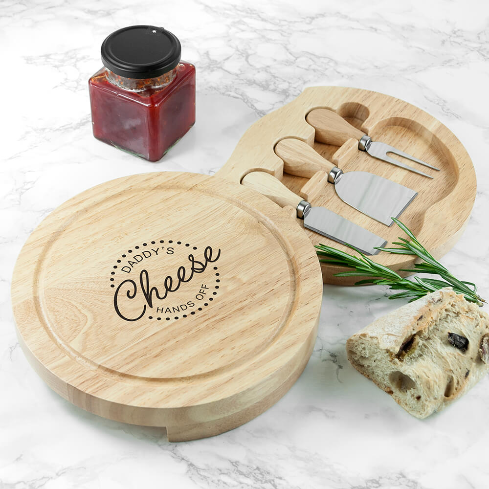 Personalised Cheese Board Set – Hands Off