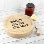 Personalised Cheese Board Set – Your Message