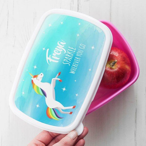 Personalised Lunch Box – Unicorn