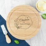 Personalised Cheese Board Set – Christmas at Home